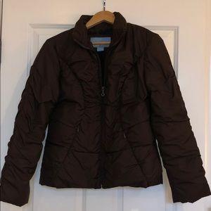 Nine West Puffer Jacket, PRISTINE, Brown, Size Med